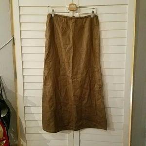 J. CREW Long Brown Linen Skirt NWT